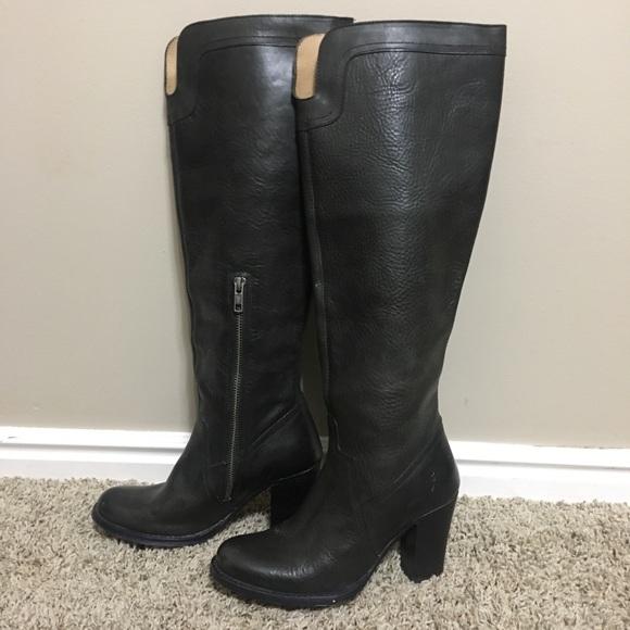 0f049b0814b Frye tall black leather boots